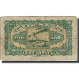 Banknote, French West Africa, 100 Francs, 1942, 1942-12-14, KM:31a, VF(30-35)
