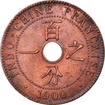 Coin, FRENCH INDO-CHINA, Cent, 1900, Paris, AU(55-58), Bronze, KM:8, Lecompte:55