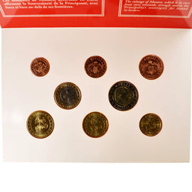 Monaco, 1 Cent to 2 Euro, 2002, MS(65-70), 0.00