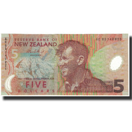 Banknote, New Zealand, 5 Dollars, 2003, Undated (2003), KM:185b, UNC(65-70)