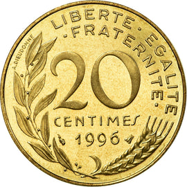 Coin, France, Marianne, 20 Centimes, 1996, Paris, BE, MS(65-70), KM 930