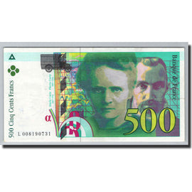 Banknote, France, 500 Francs, 1994, Undated (1994), AU(55-58), Fayette:76.1