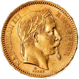 Coin, France, Napoleon III, 20 Francs, 1862, Paris, AU(55-58)