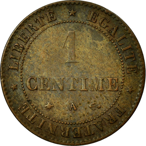 Coin, France, Cérès, Centime, 1872, Paris, AU(55-58), Bronze, KM:826.1