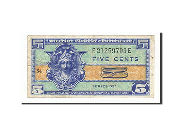 Banknote, United States, 5 Cents, 1954, VF(30-35)