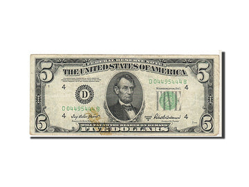 Banknote, United States, Five Dollars, 1950, KM:1818, VF(30-35)