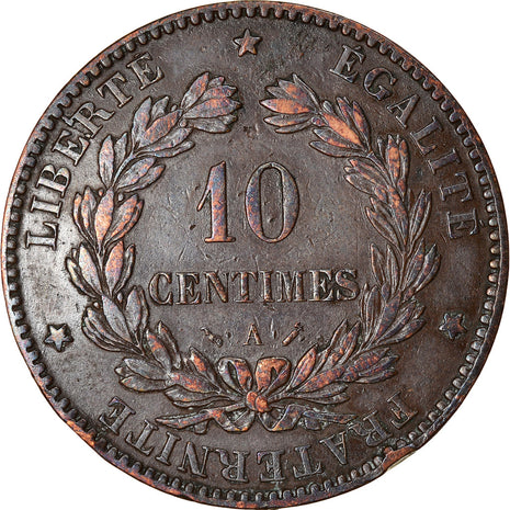 Coin, France, Cérès, 10 Centimes, 1884, Paris, EF(40-45), Bronze, KM:815.1
