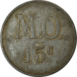 Coin, France, Messageries de l'Ouest, Nantes, 15 Centimes, EF(40-45), Nickel