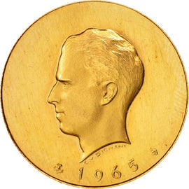Belgium, Medal, Millenium of Minting in Brussels, History, 1965, MS(63), Gold