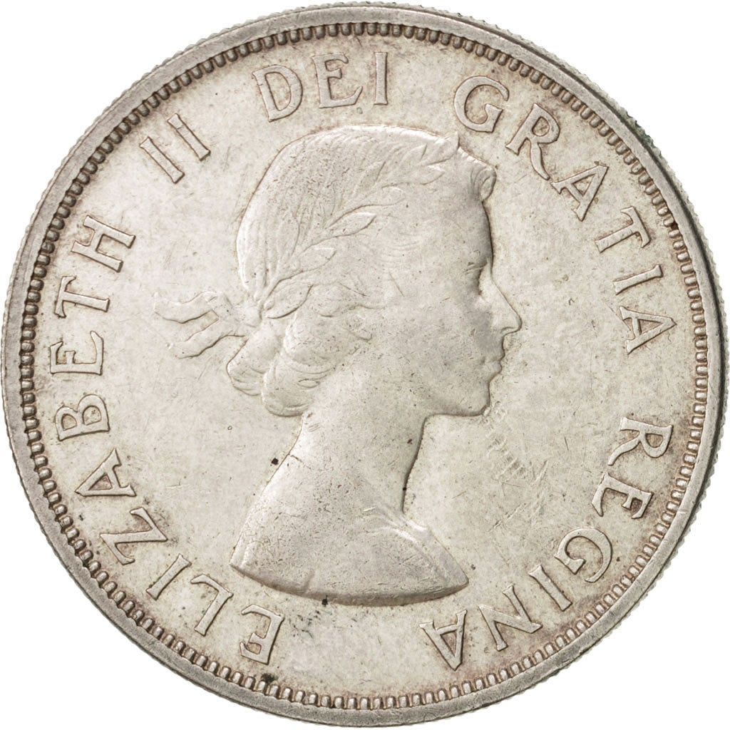 Canada Dollar 1958 Royal Canadian Mint KM:55 AU(55-58) Silver 36