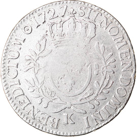 Coin, France, Louis XV, Écu aux branches d'olivier, Ecu, 1727, Bordeaux