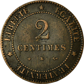 Coin, France, Cérès, 2 Centimes, 1878, Bordeaux, EF(40-45), Bronze, KM:827.2