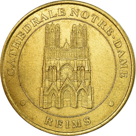 France, Token, Touristic token, Reims - Cathédrale Notre Dame, 2001, MDP