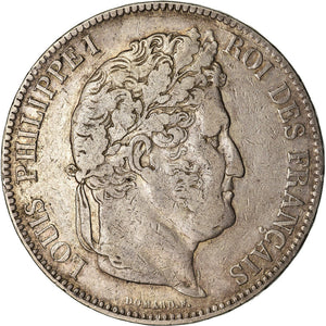 Coin, France, Louis - Philippe, Louis-Philippe, 5 Francs, 1836, Toulouse