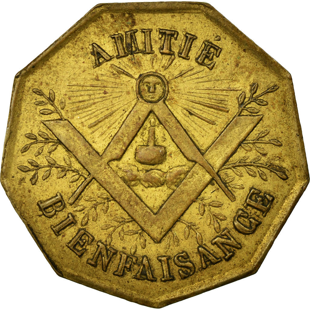 France, Token, Masonic, AU(55-58), Brass, Labouret:347