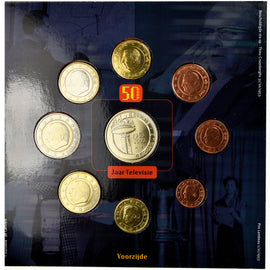 Belgium, 1 Cent to 2 Euro, 2003, MS(65-70)