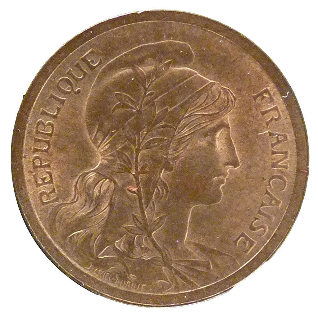 FRANCE, Dupuis, 2 Centimes, 1898, Paris, KM #841, MS(60-62), Bronze, 20.2,...