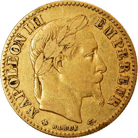 Coin, France, Napoleon III, 10 Francs, 1864, Strasbourg, VF(30-35), Gold