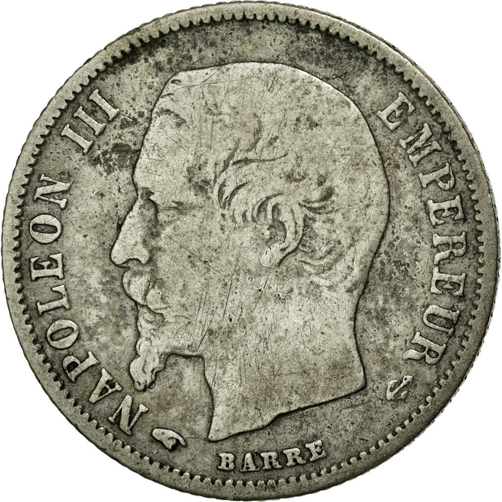 Coin, France, Napoleon III, Napoléon III, 50 Centimes, 1859, Paris, VF(20-25)