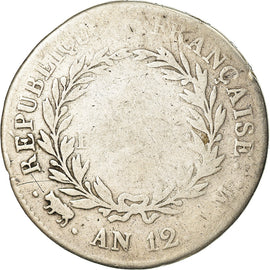 Coin, France, Napoleon I, 5 Francs, An 12, Toulouse, F(12-15), Silver