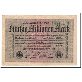Banknote, Germany, 50 Millionen Mark, 1923, 1923-09-01, KM:109b, VF(30-35)