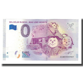 Germany, Tourist Banknote - 0 Euro, Germany - Littérature - Wilhelm Busch - Max