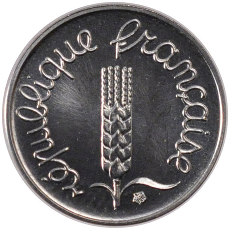 FRANCE, Épi, Centime, 1981, Paris, KM #928, MS(65-70), Stainless Steel, 15, ...
