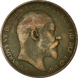 Coin, Great Britain, Edward VII, Penny, 1905, VF(30-35), Bronze, KM:794.2