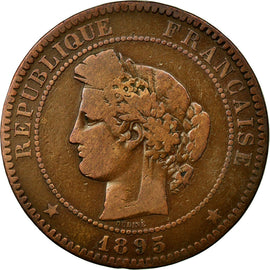 Coin, France, Cérès, 10 Centimes, 1895, Paris, VF(20-25), Bronze, Gadoury:265a