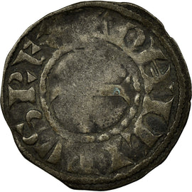 Coin, France, Philip II, Denier Tournois, Saint-Martin de Tours, F(12-15)