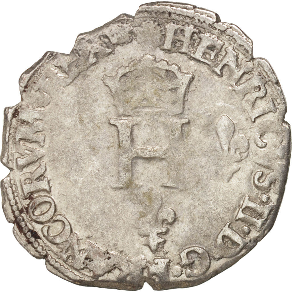 France, Demi Gros de Nesle, 1551, Paris, EF(40-45), Billon, Duplessy:995