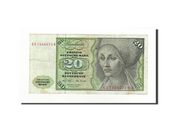 Banknote, GERMANY - FEDERAL REPUBLIC, 20 Deutsche Mark, 1970-01-02, KM:32a
