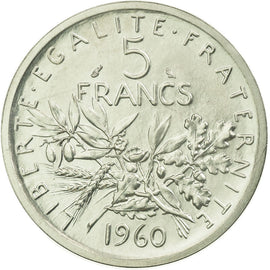 Coin, France, 5 Francs, 1960, MS(65-70), Silver, KM:PE331, Gadoury:153.P1