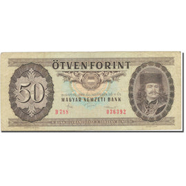 Banknote, Hungary, 50 Forint, 1986, 1986-11-04, KM:170g, VF(30-35)