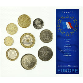 Coin, France, 5 centimes à 20 francs, Mixed Dates, Paris, EF(40-45), (No