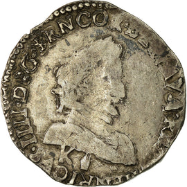 Coin, France, Demi Franc, 1592, Bordeaux, VF(30-35), Silver, Sombart:4744