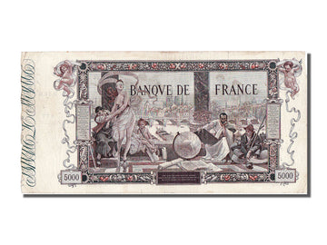 France, 5000 Francs, 5 000 F 1918 ''Flameng'', 1918, KM #76, 1918-01-17,...