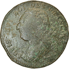 Coin, France, 12 deniers françois, 1791, Marseille, F(12-15), KM 600.11