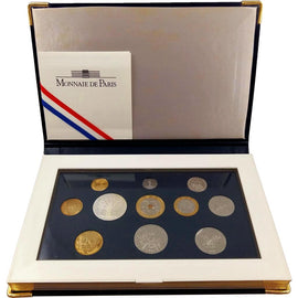 Coin, France, Proof Set Franc, 1997, Paris, 5 cts 3 plis