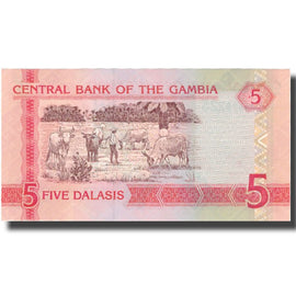 Banknote, The Gambia, 5 Dalasis, 2006, 2006, KM:25, UNC(60-62)