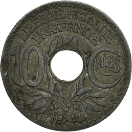 coin, France, 10 Centimes, 1941, Paris, F(12-15), Zinc, KM:897, Gadoury:288c