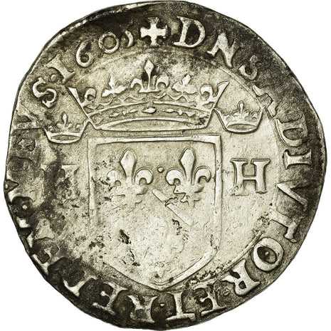 Coin, FRENCH STATES, DOMBES, Henri II de Montpensier, Teston, 1605, VF(20-25)