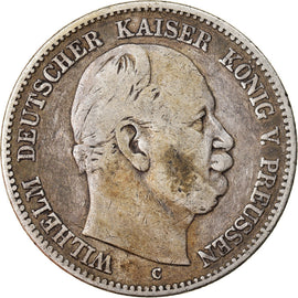 Coin, German States, PRUSSIA, Wilhelm I, 2 Mark, 1876, Cleves, VF(30-35)