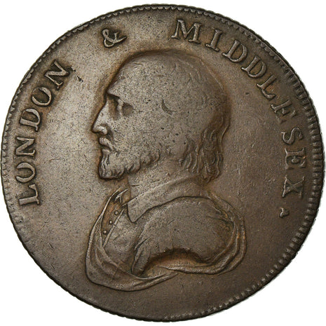 Coin, Great Britain, Middlesex, London & Middlesex, Halfpenny Token, 1792