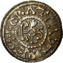 Coin, France, Charles le Chauve, Denier, 864-865, Curtisasonien, AU(55-58)