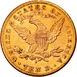 Coin, United States, Coronet Head, $10, Eagle, 1885, U.S. Mint, San Francisco