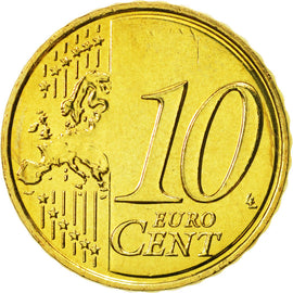 Malta, 10 Euro Cent, 2008, MS(65-70), Brass, KM:128