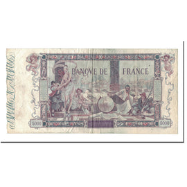 France, 5000 Francs, 5 000 F 1918 ''Flameng'', 1918, 1918-01-28, VF(30-35)