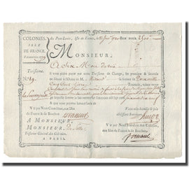 France, Traite, Colonies, Isle de France, 2500 Livres Tournois, 1780, AU(55-58)