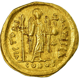 Coin, Justinian I, Solidus, 545-565, Constantinople, AU(55-58), Gold, Sear:140